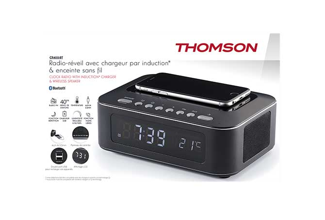 Radio réveil Thomson CR400IBT