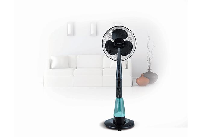 ventilateur brumisateur sur pied 40cm deco thomson. Black Bedroom Furniture Sets. Home Design Ideas